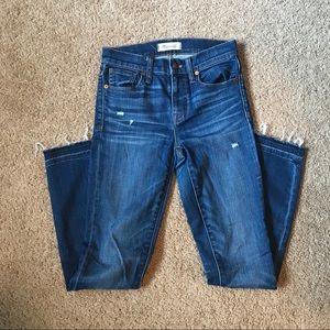 "Madewell 9"" High Riser Skinny Skinny Jeans Size 24"